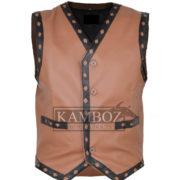 warrior vest brown 1