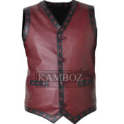 warrior vest brown burgundy 1