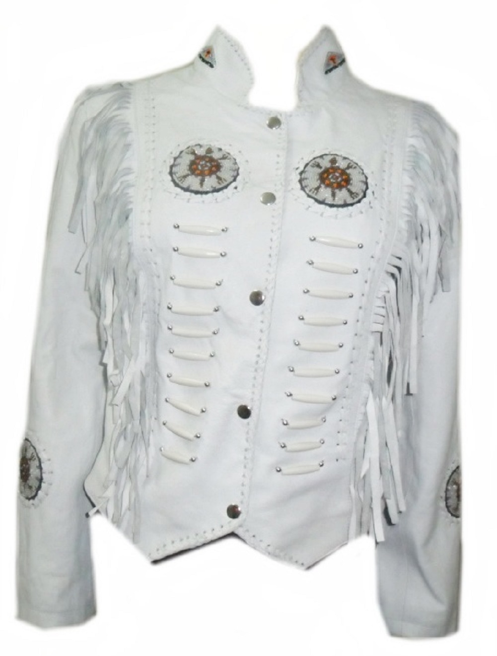 White suede leather jacket